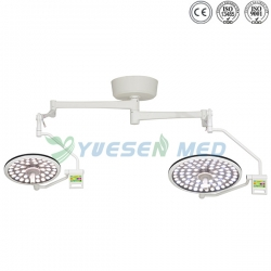 Double Heads Ceiling Mounted LED Surgical Lamp YSOT-LED5070