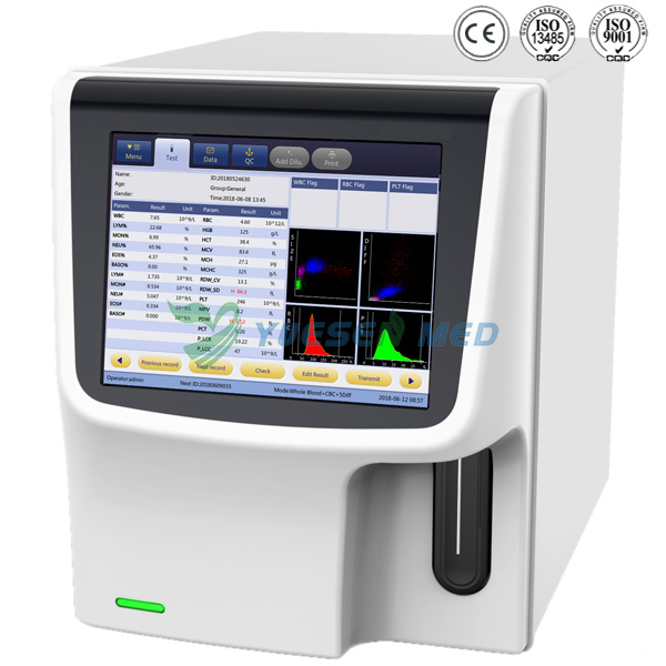 Bench-top color touch screen 5-diff auto blood analyzer YSTE5000
