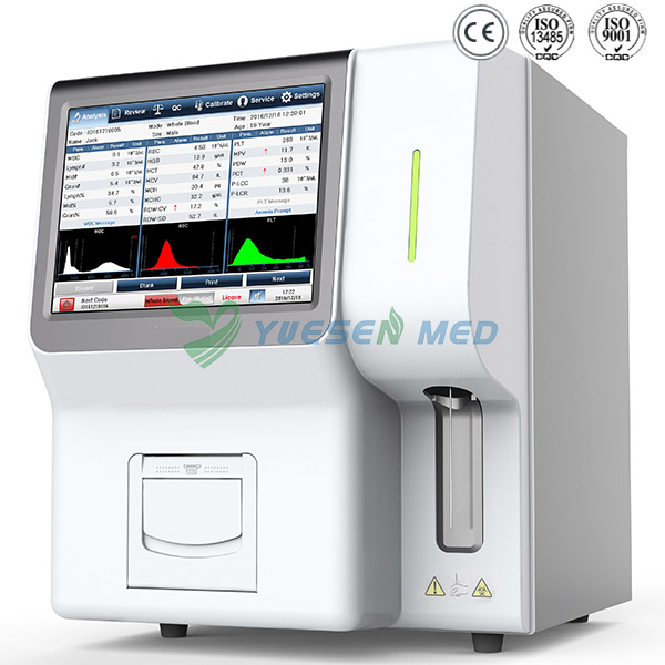 3-part Touch Screen Full Automated Hematology Analyzer YSTE320